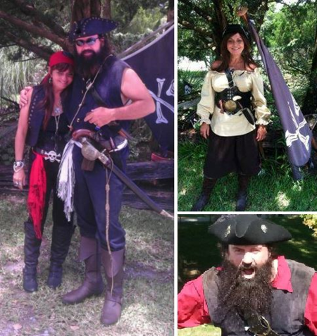 Lieutenant Jo and Captain Carl Beaufort NC Pirate Invasion