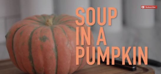 Making soup in a pumpkin