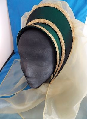 Beads and Ladies--French Emerald Green Hood