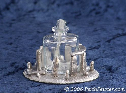 Perth Pewter--Stonehenge Oil Lamp