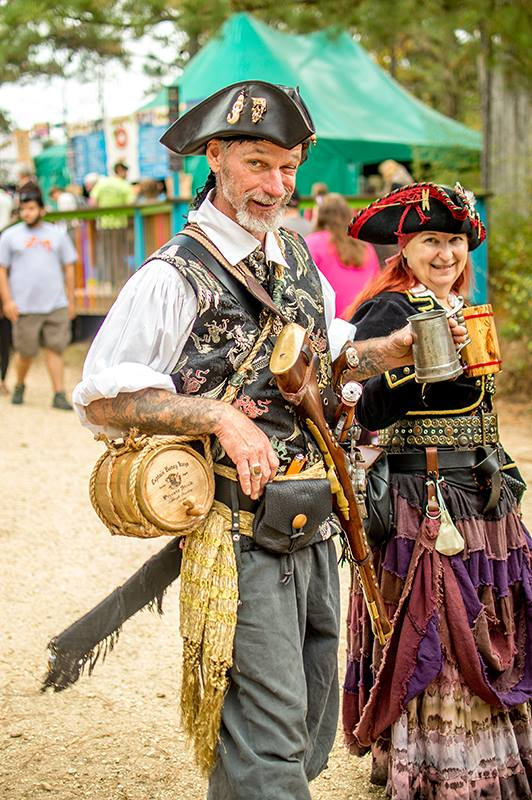 Harry and Tam at the faire