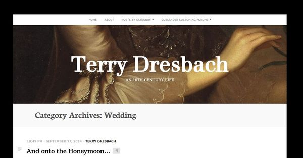 Terry dresbach blog - an 18th century life
