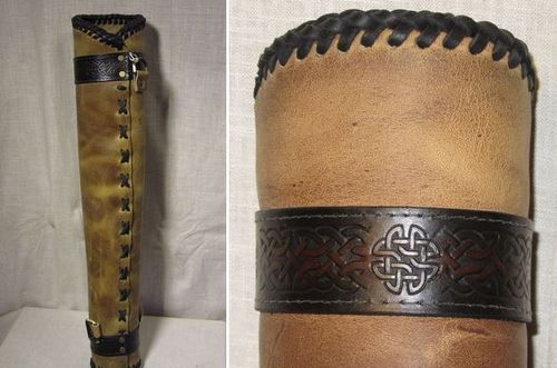 Earthly Designs Leather--Leather Quiver Celtic Trim 3