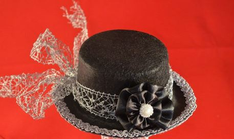 Hats by Violette--Black Mini Top Hat