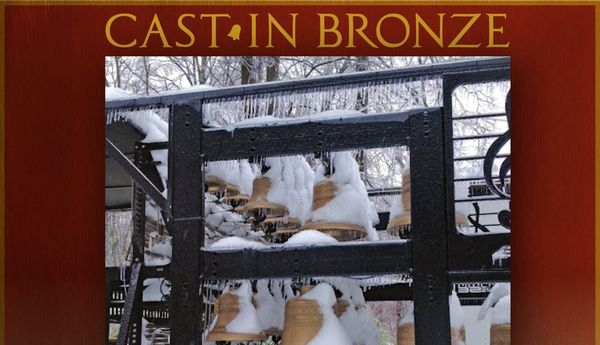Cast in bronze christmas header