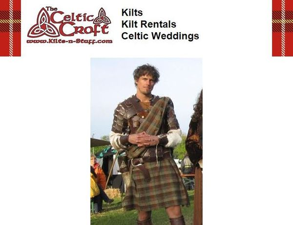 The Celtic Croft--Man in Kilt